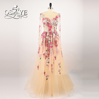 Real Photo 2017 African Champagne Sexy Special Occasion Vintage A line Prom Dress Evening dress Women Gown vestido de festa