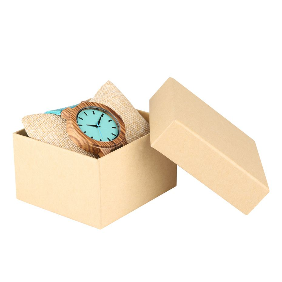 DIY Customized Logo Wood Watch Women Creative Engraved Retro Wooden with Blue Genuine Leather Souvenir Gifts for Girl Girlfriend 2019 2020 2022 (8)