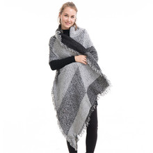 New Fashion Woman Scarf Wool Shawl Bevel Cardigans Wanrm Knitted Pashmina Oversized Blanket Capes Scarves