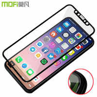 HD Clear Tempered Glass For iPhone X Screen Protector Cover MOFi 3D Slim Ultra Thin Full Cover MOfi For iPhone X 5.8 inch