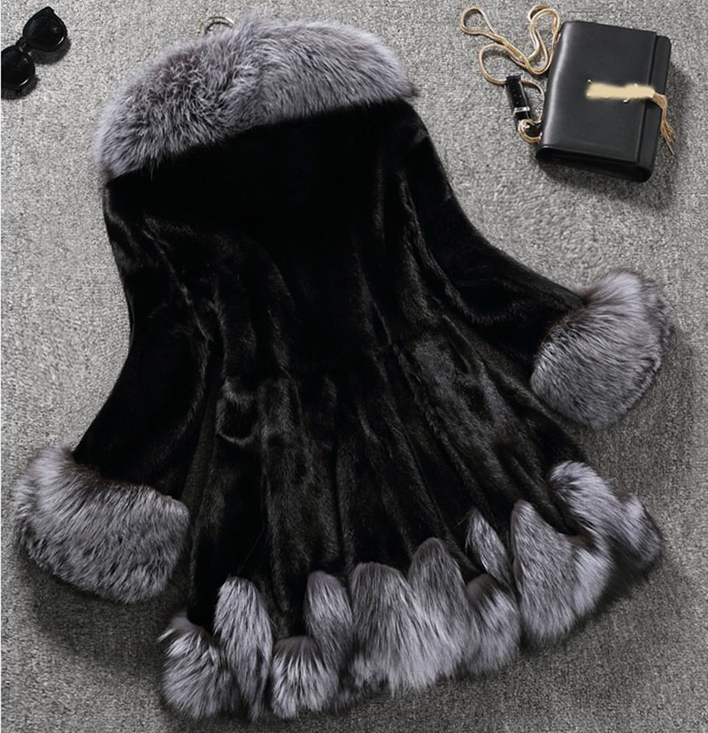 Autumn Winter Hooded Warm Coat Jacket Fluffy Faux Fur Coat Women Furry Fake Fur Overcoat Female