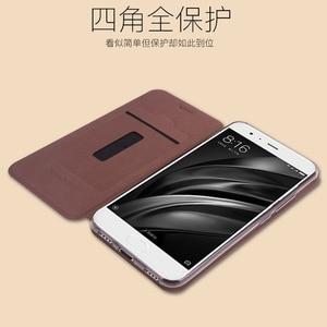 "Image 4 - Mofi For Xiaomi Mi 6 M6 Mi6 Case Luxury Flip Leather Stand Case For Xiaomi Mi 6 M6 Mi6 5.15"" Cover Book Style Cell Phone Cover"