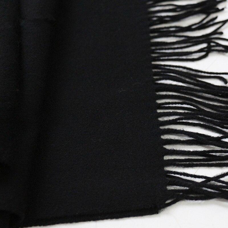 Lafarvie Sıcak Satış Yeni Varış 2018 Katı Renk Kaşmir Yün - Elbise aksesuarları - Fotoğraf 3