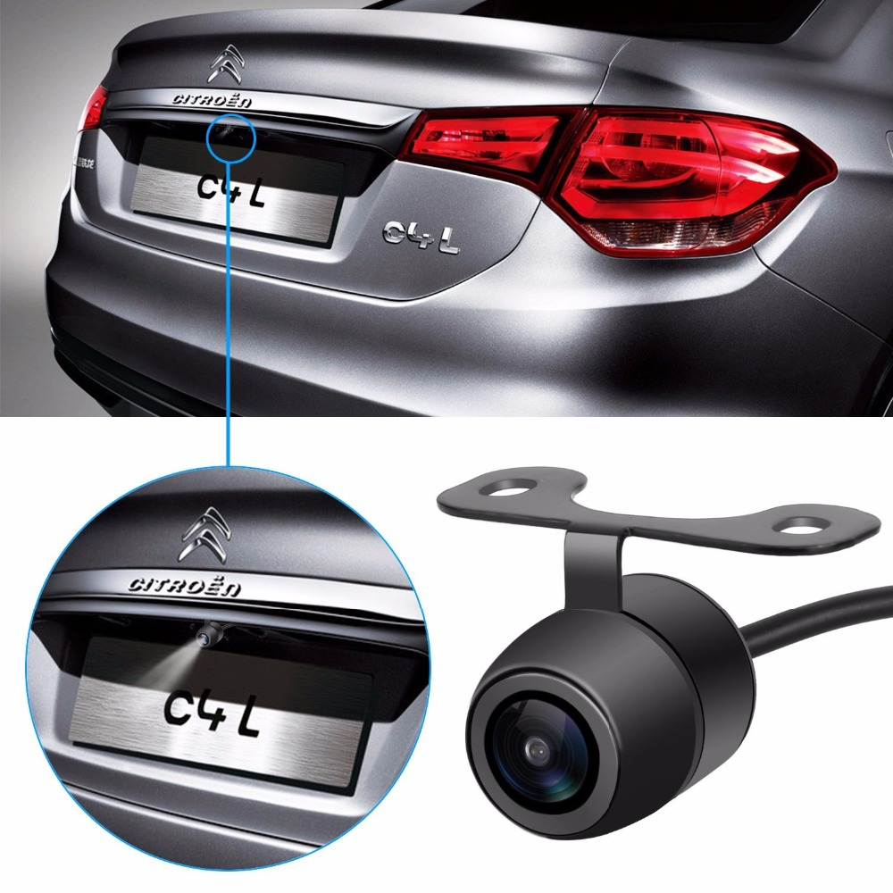 Universal Rear View Vehicle Camera Built-in Parking Line HD Chip Waterproof Car Reversing Backup Parking Assistance