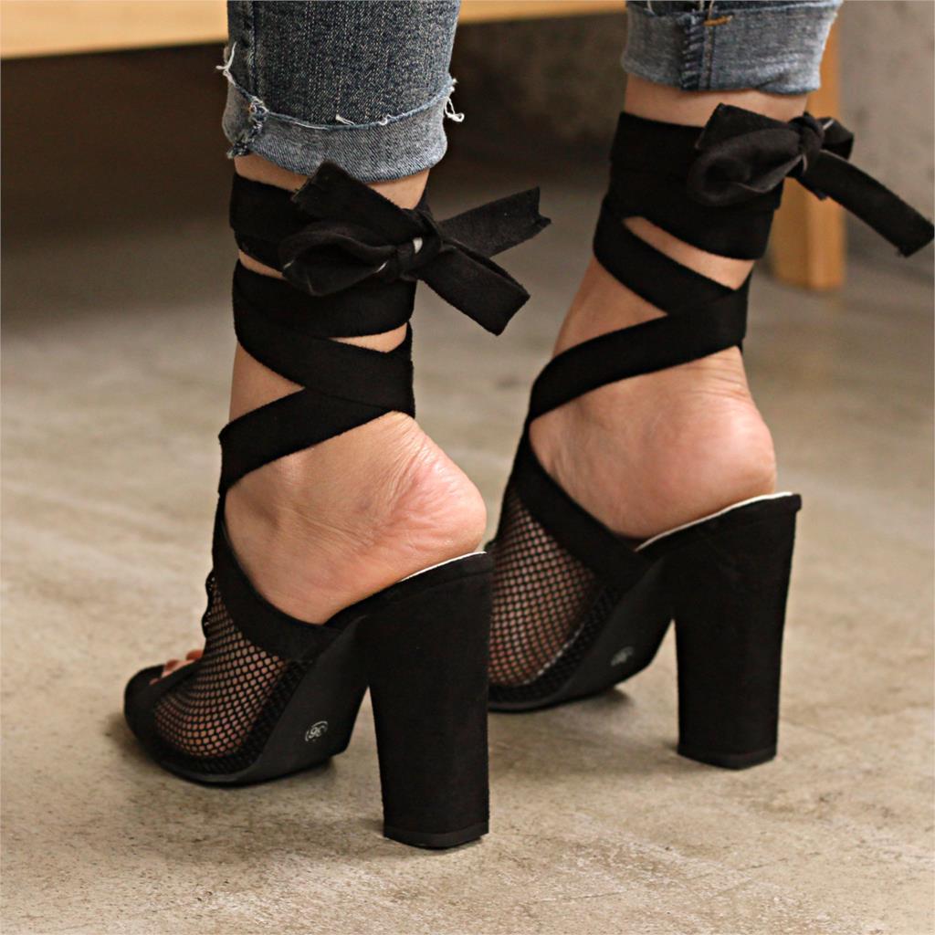 e161235eb123e4 Pour Dames Bandage Lacets Noir Sexy Semelles Femme Sandales 35 Chaussures  Talons Compensées 43 D'été À Hauts 2019 ...