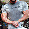 Cotton T Shirts Mens New Summer Street Wear GYMS T SHIRTS 2017 Brand Fashion Zipper On