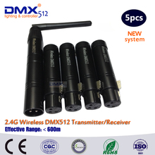 DHL Free Shipping 2.4G ISM Wireless DMX512 LED Stage Lighting XLR High Quality Wireless Dmx Controller Receiver &Transmitter