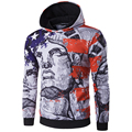 New Arrival Men 3D Printing Hoodies High Quality Men USA Flag Pullover With Hood Long Sleeve Autumn Wear Sweatshirt