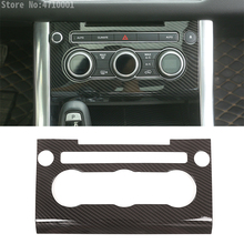 Углеродное волокно стиль ABS пластиковая центральная консоль автокондиционера Панель рамка Крышка отделка для Land Rover Range Rover Sport 2014-2017
