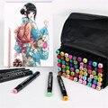 30/40/60/80 цветные художественные маркеры набор двухголовых художников эскиз масляной спиртовой основе маркеры