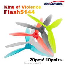 24 pces/12 pares gemfan flash 5144 3 lâmina hélice de alta velocidade violência especialmente para 4s-6s fpv racing drone quadcopter