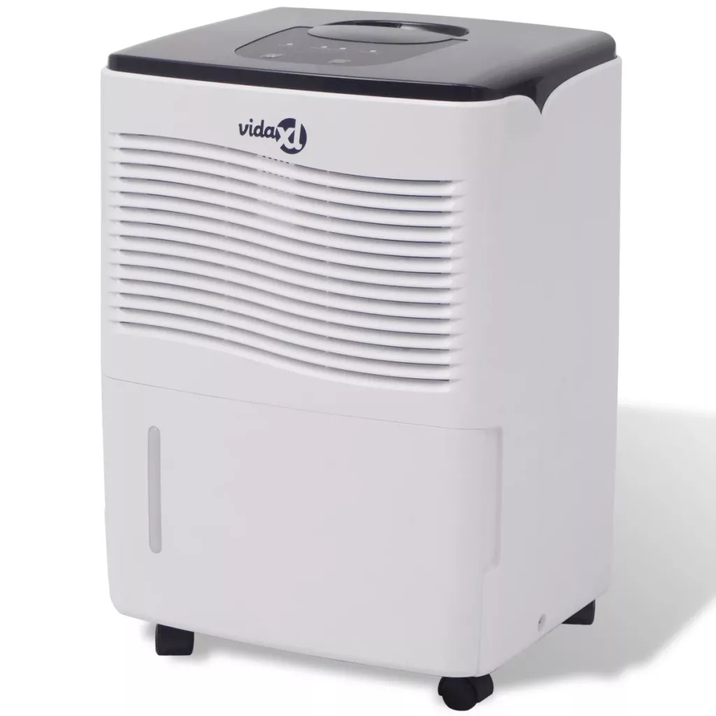 VidaXL Home Dehumidifier 230 W 12 L/24 H Dehumidification Capacity Quiet Dehumidifier Suitable For Bedrooms Kitchens Closets