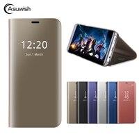 Asuwish Flip Cover Leather Case For Huawei Mate 10 Lite Nova 2i For Huawei Honor 9i