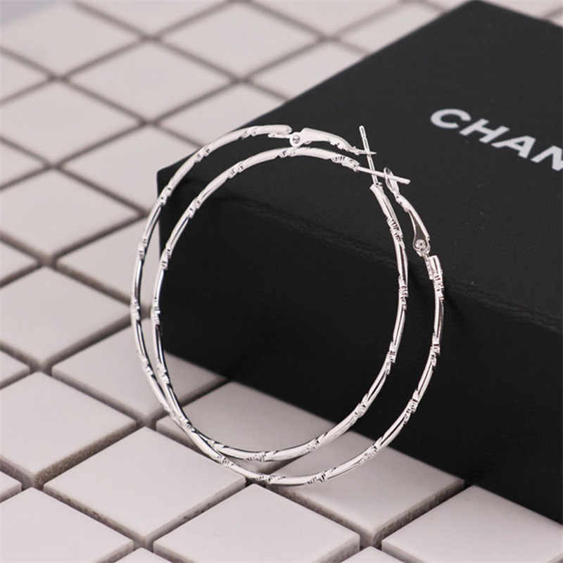 Big Circle  Earring Statement Fashion Jewelry Accessories Large Circle Round Loop Earrings For Women