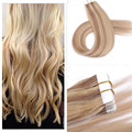 Balayage Tape in Human Hair Extensions Piano Color P16/22 Tape Hair Extensions Ombre Brazilian Blonde Tape in Extenison On Tape