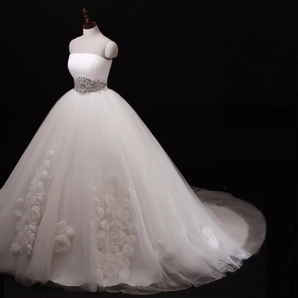 Wedding Dresses Ball Gown Corset: MANSA Lace Appliques Ball Gown Wedding Dress Corset