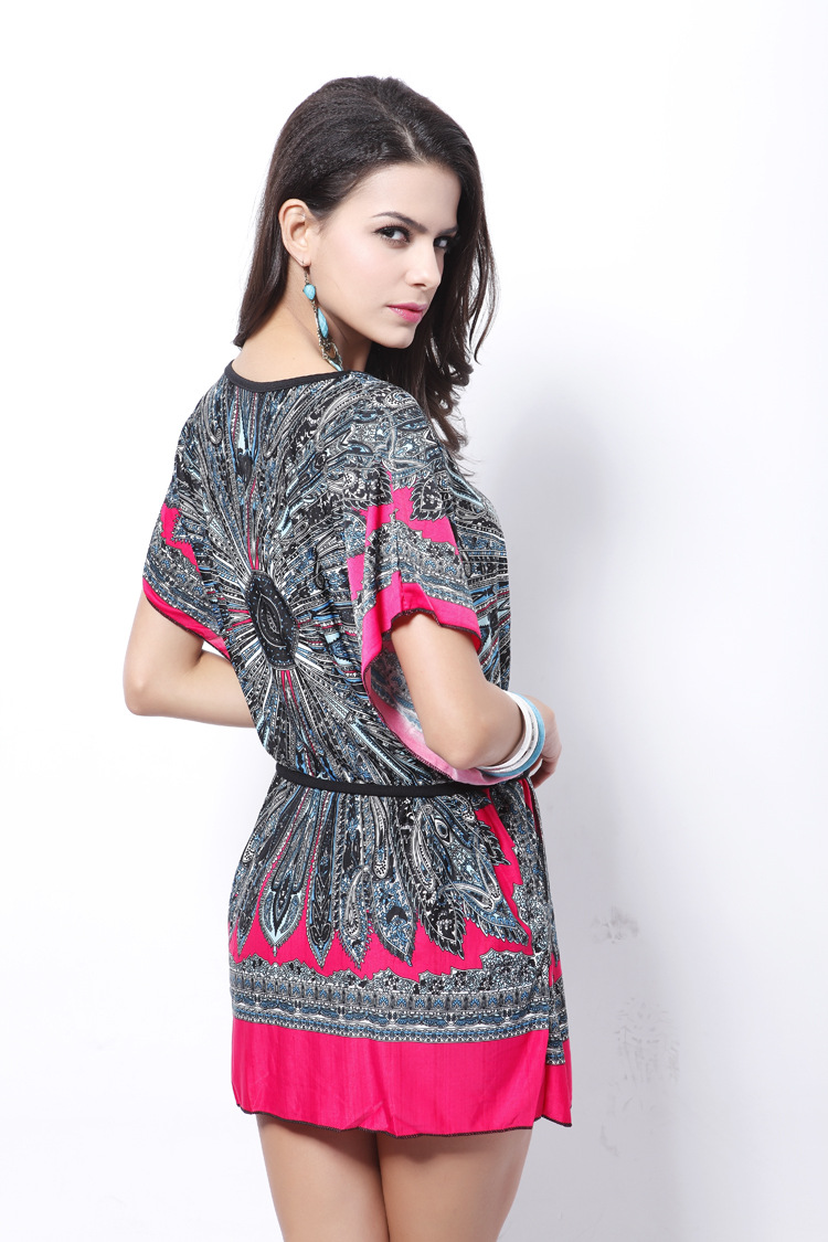 2017 spring and Summer new sexy for women casual vestidos vintage beach dresses looks thin plus size holiday National 24