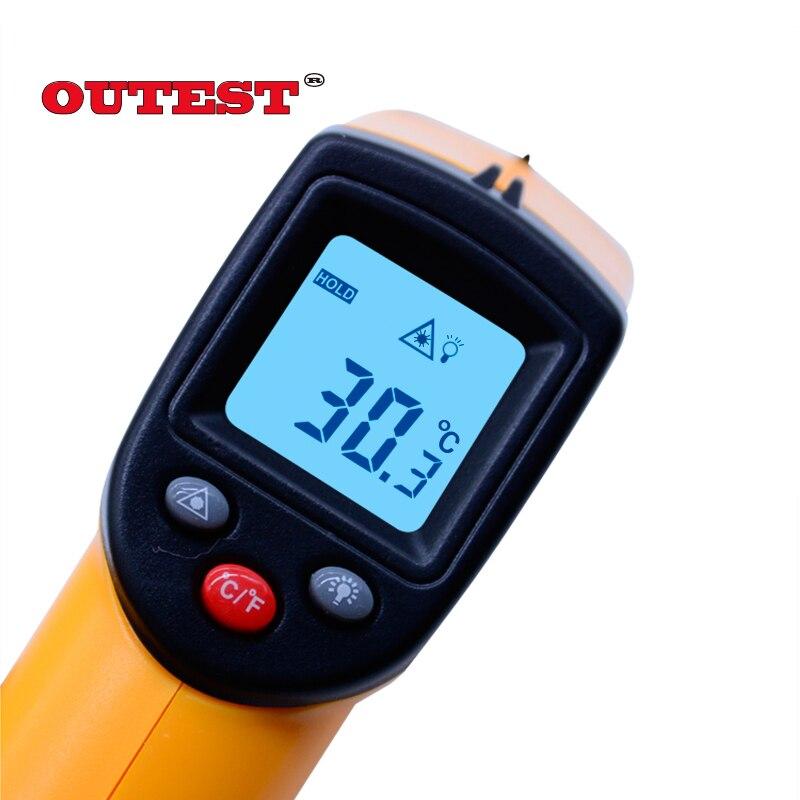 Termómetro infrarrojo GM320 sin contacto termómetro infrarrojo digital con láser-50 ~ 380 grados con blister