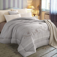 Embroidery Modal Fiber Soft Warm Winter Quilt King Size Weight 4 25KG One Piece Feather Velvet