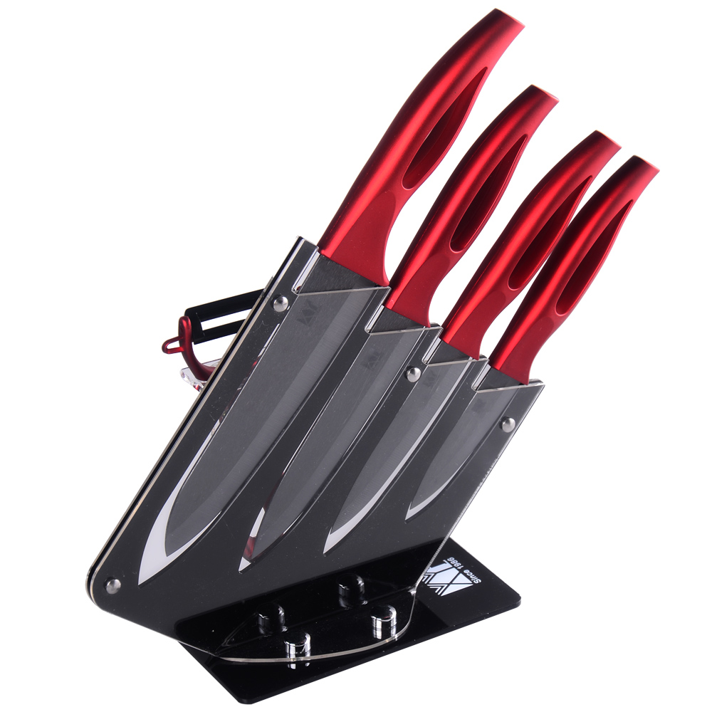 XYJ brand 3 4 5 6 inch ceramic knife peeler kitchen knife holder 6 piece set