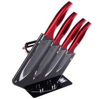 XYJ marca 3, 4, 5, 6 pulgadas cuchillo de cerámica + peeler + soporte de cuchillo de cocina 6 unidades set mejor cocina bloque del cuchillo de regalo de gran capacidad