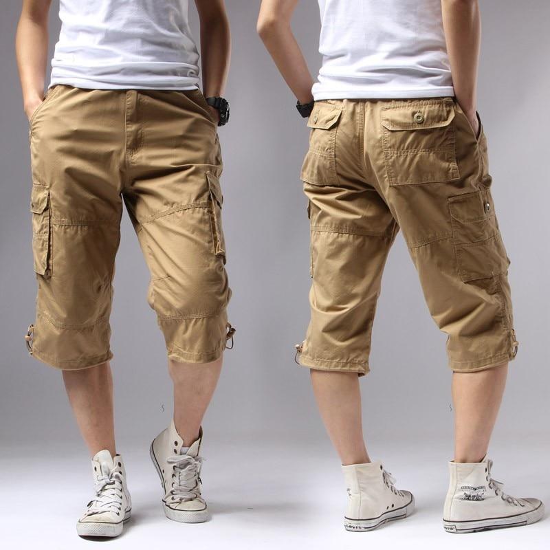 Casual Shorts Men Summer 2017 Cotton Knee Length Men S