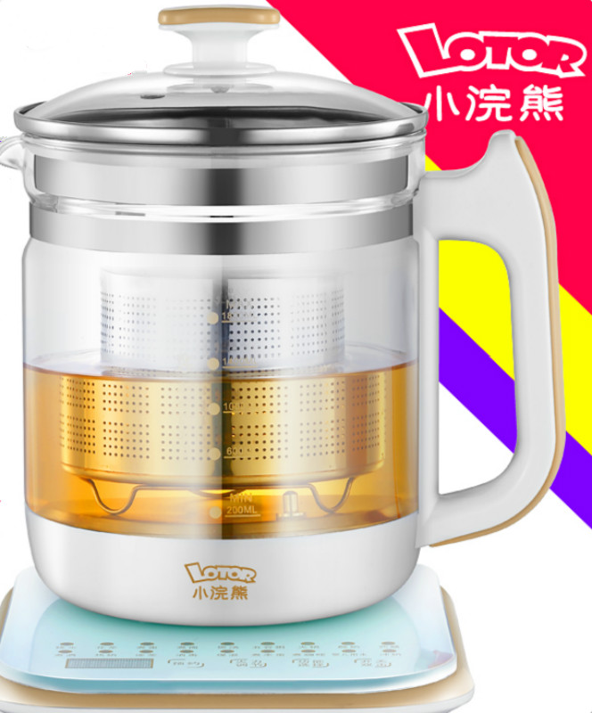 Small Household Health Pot Automatic Thickening Glass Multi-functional Electric Health Kettle Chinese Medicine Pot Black Tea Pot 100g chinese wulong da hong pao tea big red robe oolong black cha green food da hong pao health care wuyi dahongpao tea loose te page 8
