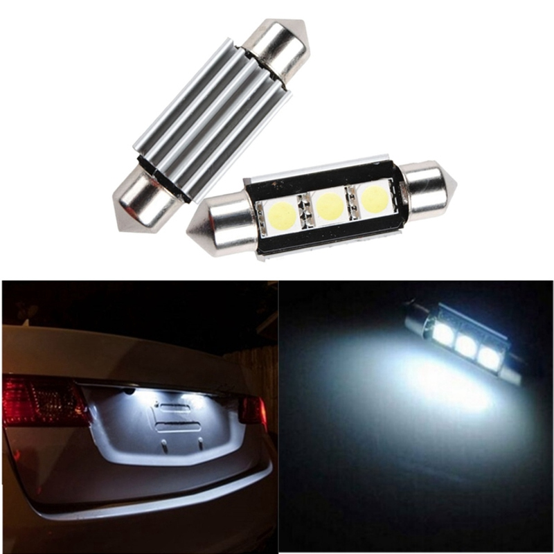 Hot Sale 36mm 3 SMD 5050 LED White Dome Festoon CANBUS Error Free Car Auto Interior Light c5w Lamp Bulb DC12V