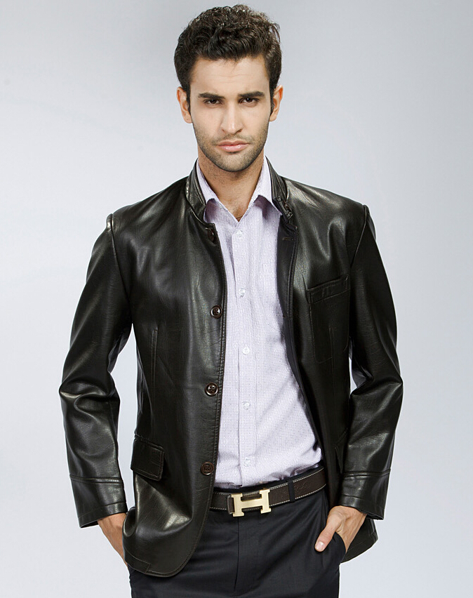 Leather Suit Jacket - Coat Nj