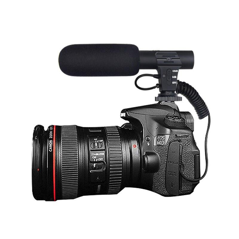 Micrófono 3,5mm Digital Video grabación entrevista Hifi sonido HD Mini teléfono Mic micrófono para cámara SLR DSLR micrófono