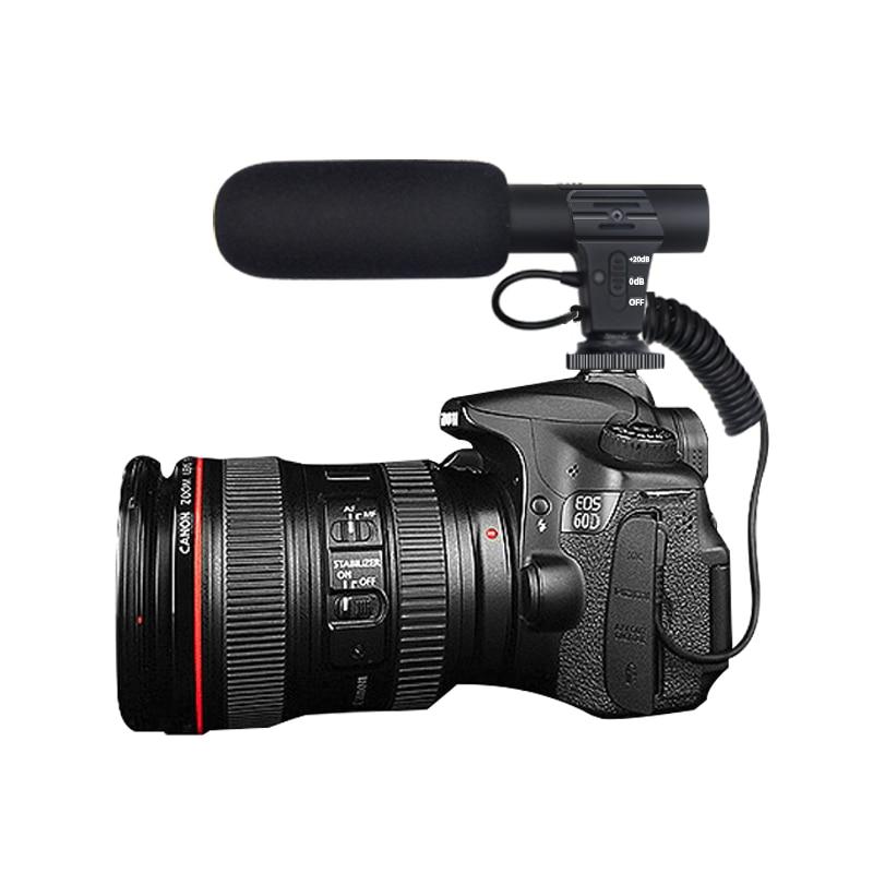 Microfono 3.5mm Digitale Parlare di Registrazione Video Intervista Hifi Audio HD Mini Microfono del Mic SLR DSLR Macchina Fotografica Microfono Flessibile