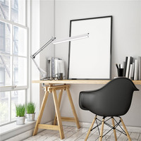 YOUKOYI A16 USB LED Desk Lamp 220V with Clip 3 Level Dimmer Drafting Table Light Swing Arm Architect Study Lamp Eye caring White