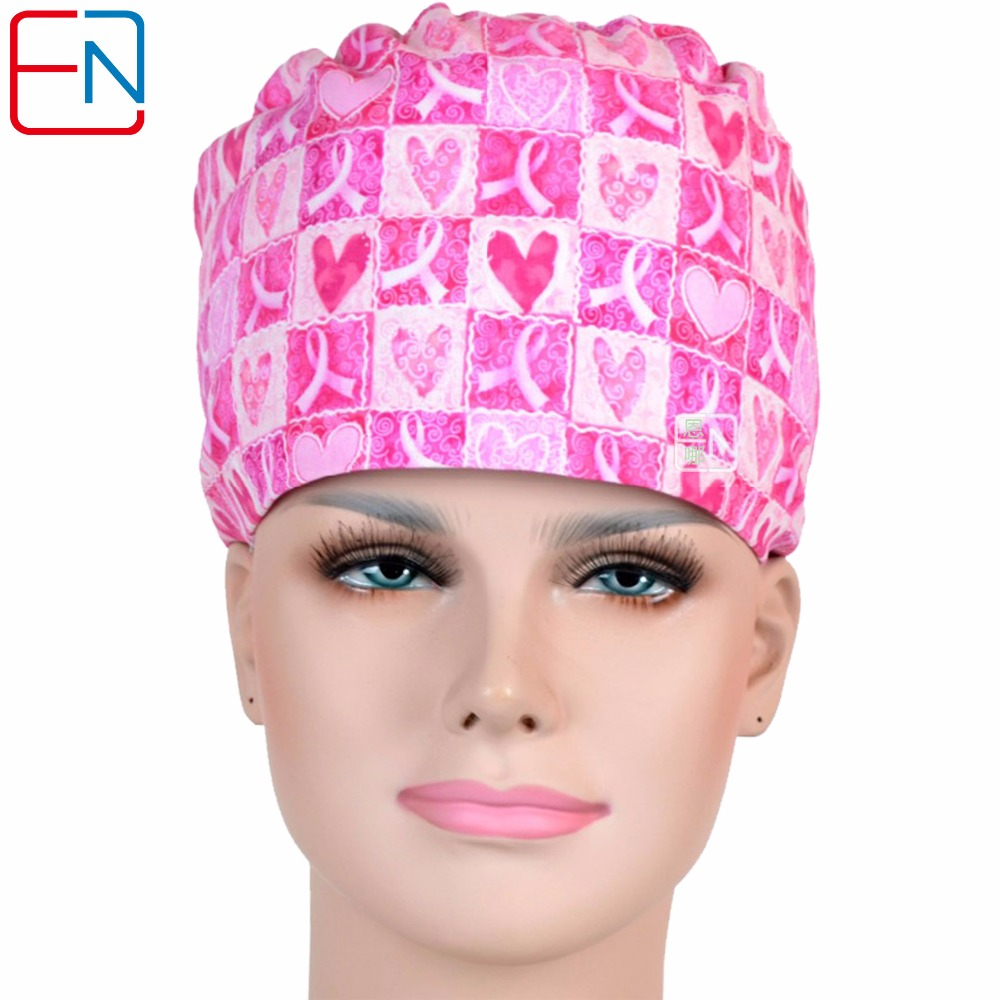 Hennar Womens Scrub Caps With Masks High Quality 100% Cotton Fabric Material Caps Hats Bright Colors Medical Surgical Doctor Cap