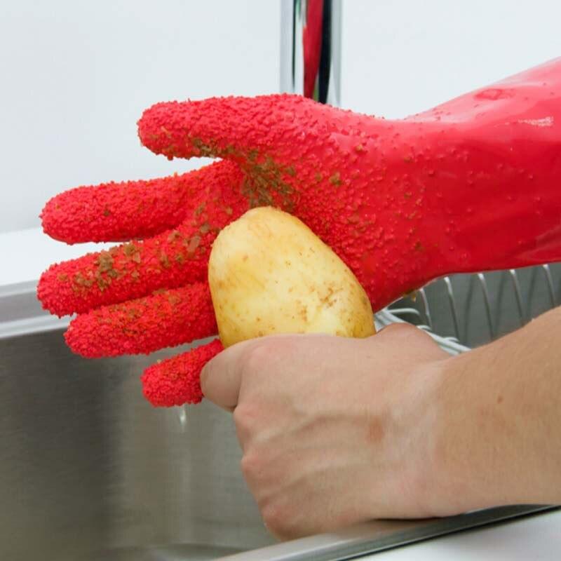 Kitchen Magic Reviews #36: High Quality Home Use Potato Gloves Kitchen Magic Anti-skidding Vegetable Peeling Gloves Kitchen Accessories