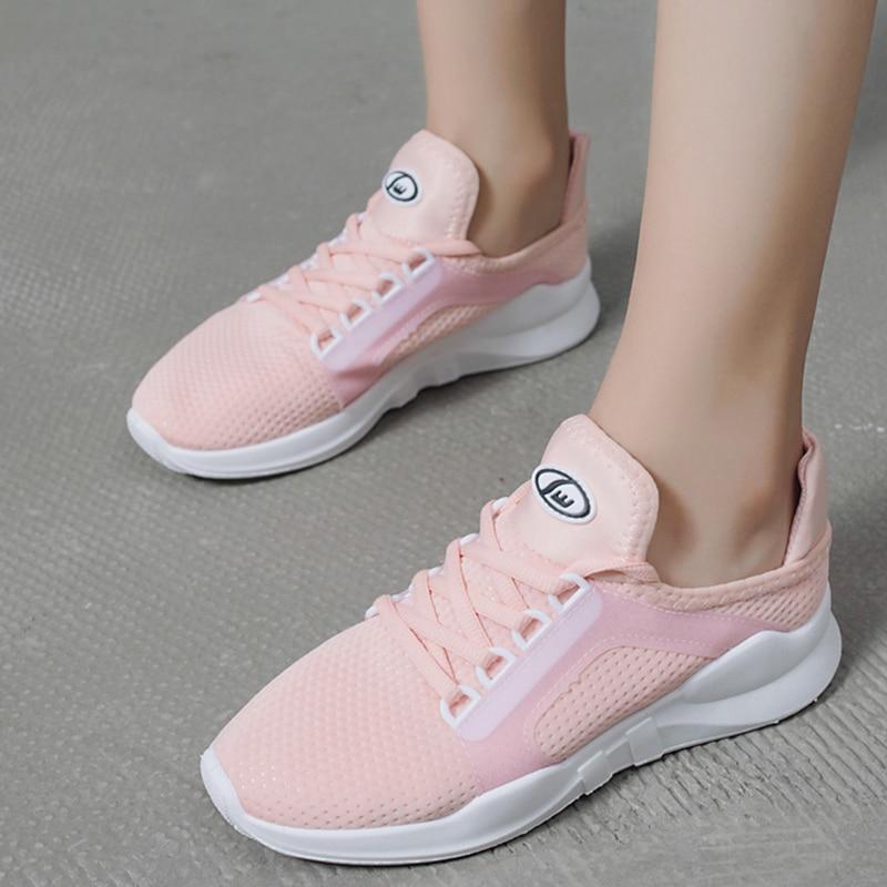 Air Zapatos Mujeres Blancas Casual Las Zapatillas Mesh Moxxy T6BInW