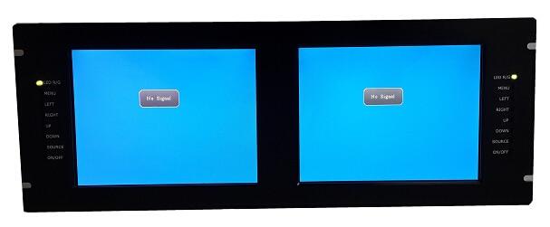 R$ 1881 57  19 polegada de Montagem Em Rack monitor LCD industrial, 2*8 4  polegada LCD, 2 * BNC AV IN, 1 * BNC AV OUT, 1 * USB, suporte HDMI & VGA,