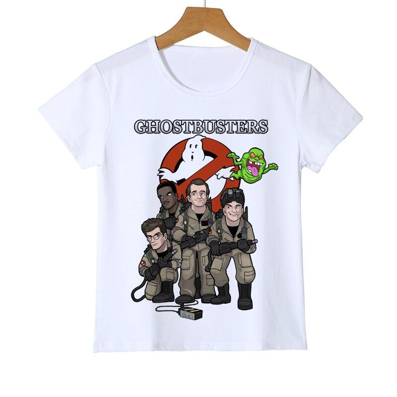 Summer Tee White Old School Logo Ghostbuster Boys/Girl T-shirt Children's printed Novelty t-shirt Brand Kid Casual t shirt Z26-2 футболка для девочки t shirt 2015 t t 2 6 girl t shirt