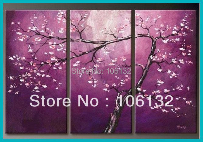 Cherry Blossom Canvas Wall Art popular purple cherry blossoms canvas-buy cheap purple cherry