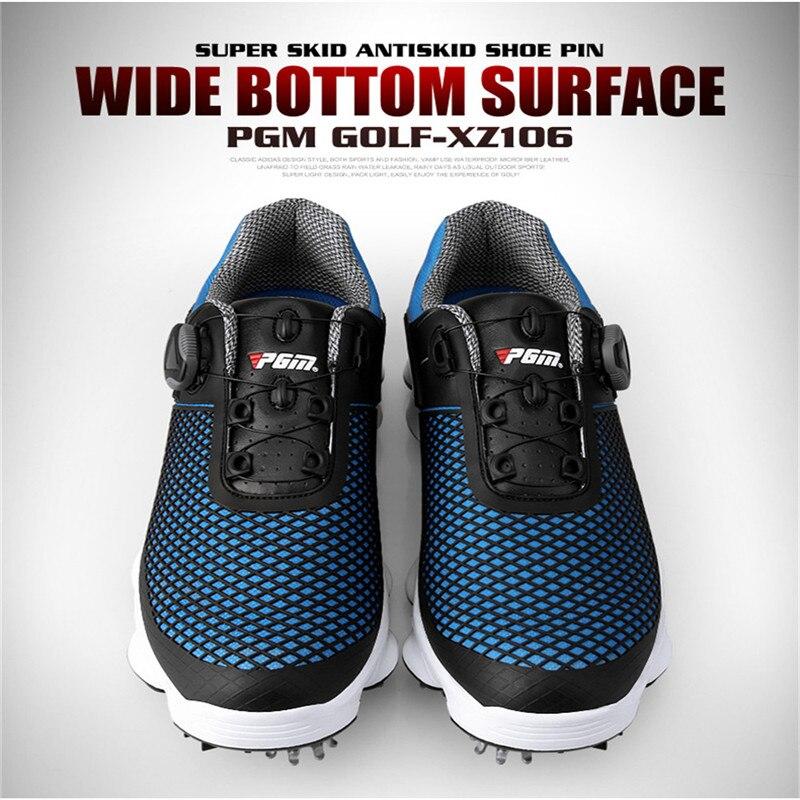 PGM nouvelles chaussures de Golf hommes imperméable respirant antidérapant baskets mâle rotatif lacets sport chaussures à crampons baskets XZ106 - 3