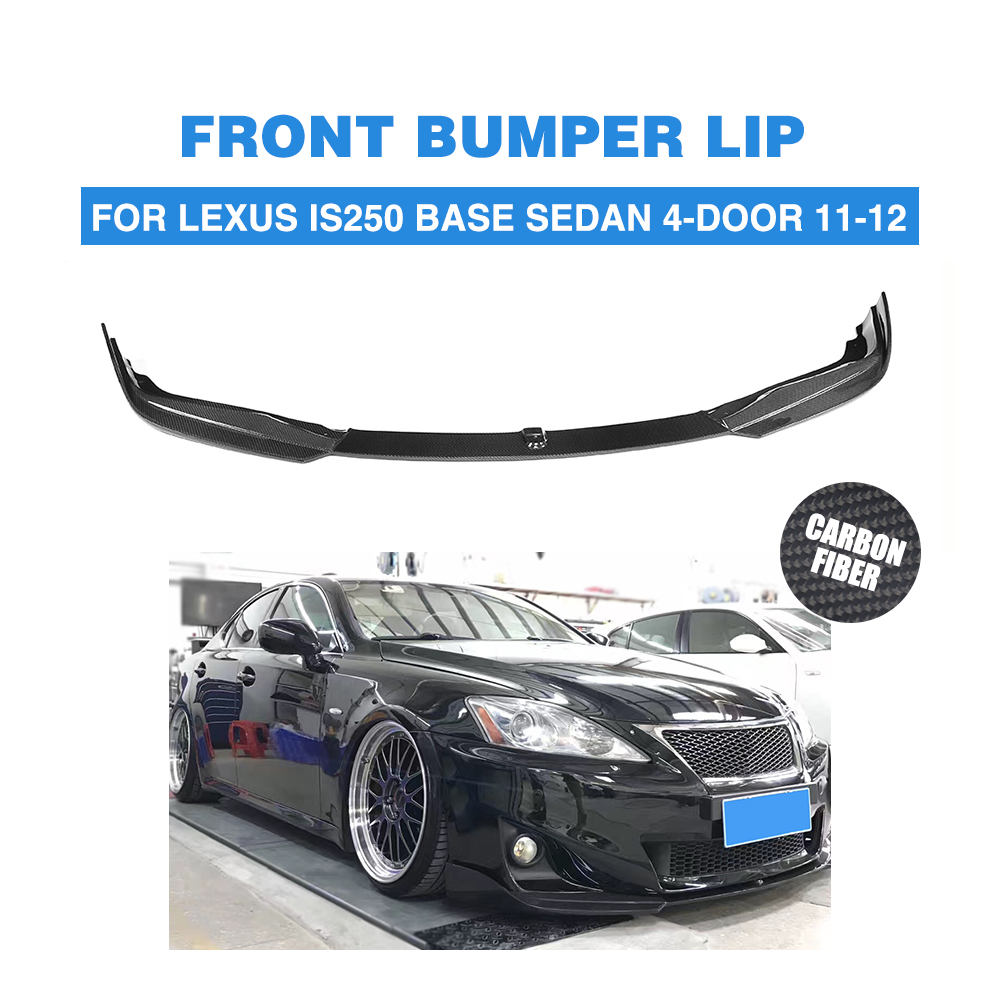 Carbon Fiber Front Lip Spoiler Chin Head Bumper Exterior Mudguard Splitters For LEXUS IS250 Base Sedan 4-Door 2011 2012 maserati granturismo carbon spoiler