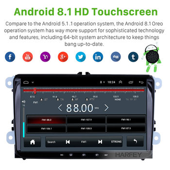 Harfey 2din Android 9.1 GPS Navi 9inch Car Multimedia Player Auto Radio For Skoda/Seat/Volkswagen/VW/Passat b7/POLO/GOLF 5 6 image