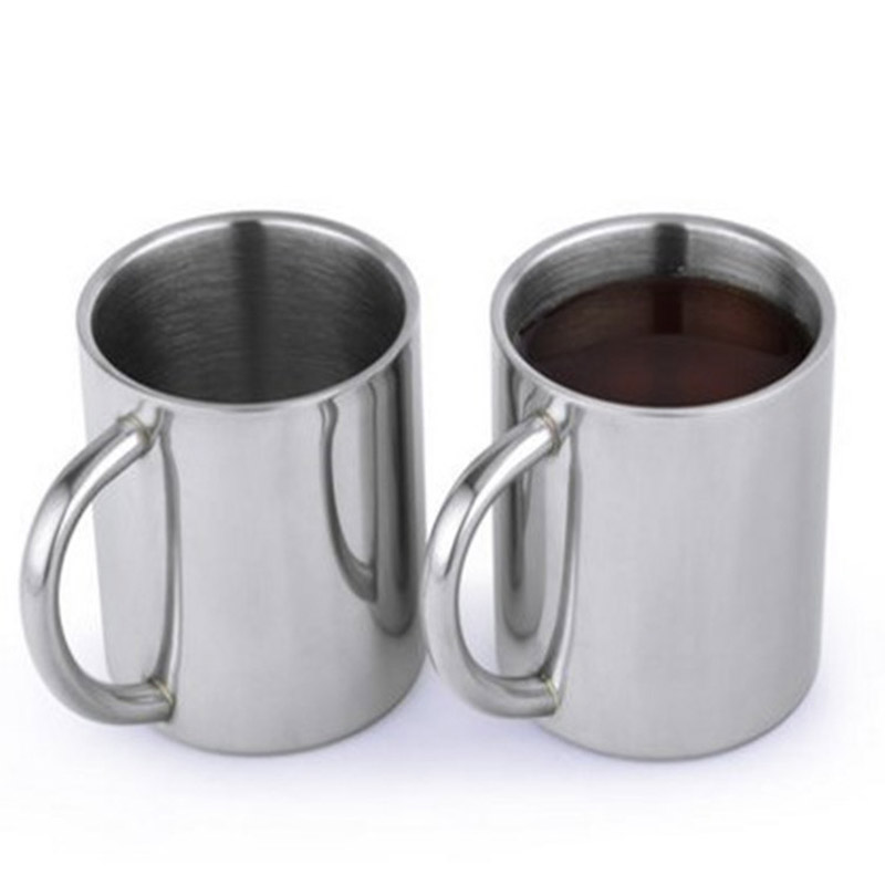 1pcs New 220ml Stainless Steel with Handle Portable Mug ...