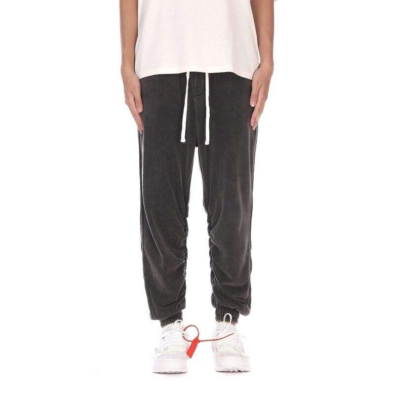 Rues européennes et américaines Harlan lâche grande taille bouquet pantalon tendance hip hop lavé vieux pieds jeans vêtements pour hommes