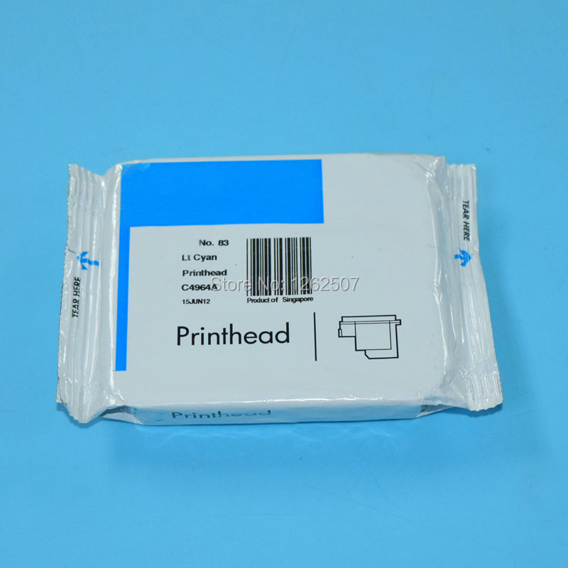 C4964A HP83 LC Light Cyan Original Print Head For hp 83 Printhead For HP Designjet 5000 5500 5500PS Large Format Plotter head 1 set printhead cleaning kit for hp designjet 5000 5500 5100 1050 1055