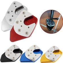 CNC Aluminum Motorcycle Kickstand Foot Side Stand Extension Pad Support Plate For 2017 2018 Honda XADV X-ADV 750 XADV750