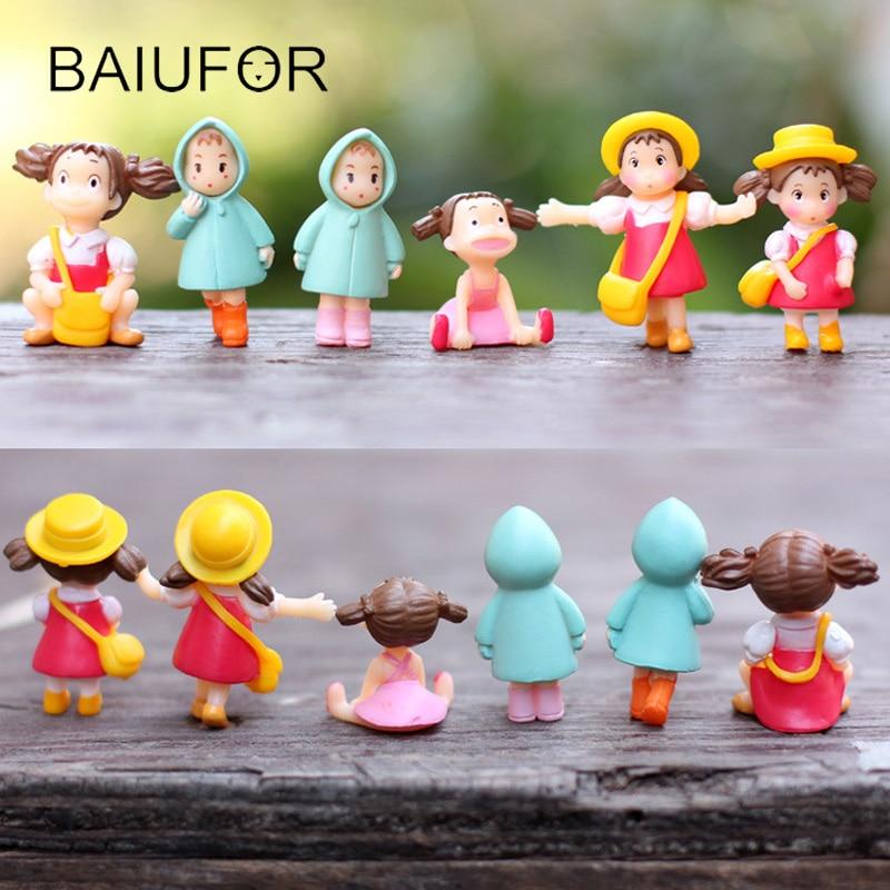 Cartoon Doll Miyazaki Anime My Neighbor Totoro - May Miniature Fairy Figurines Mini Garden Decoration Action & Toy Figures