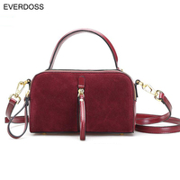 Everdoss Small Shoulder Bag for Women Vintage Top-Handle Bags Casual Zipper Messenger Cross Body Bag Retro Black Red Brown Totes