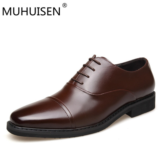 Men shoes luxury brand designer black brown genuine leather formal wedding dress oxfords derby flats shoes zapatos hombre cheap price top quality low shipping online free shipping sale online Cjl9F8V