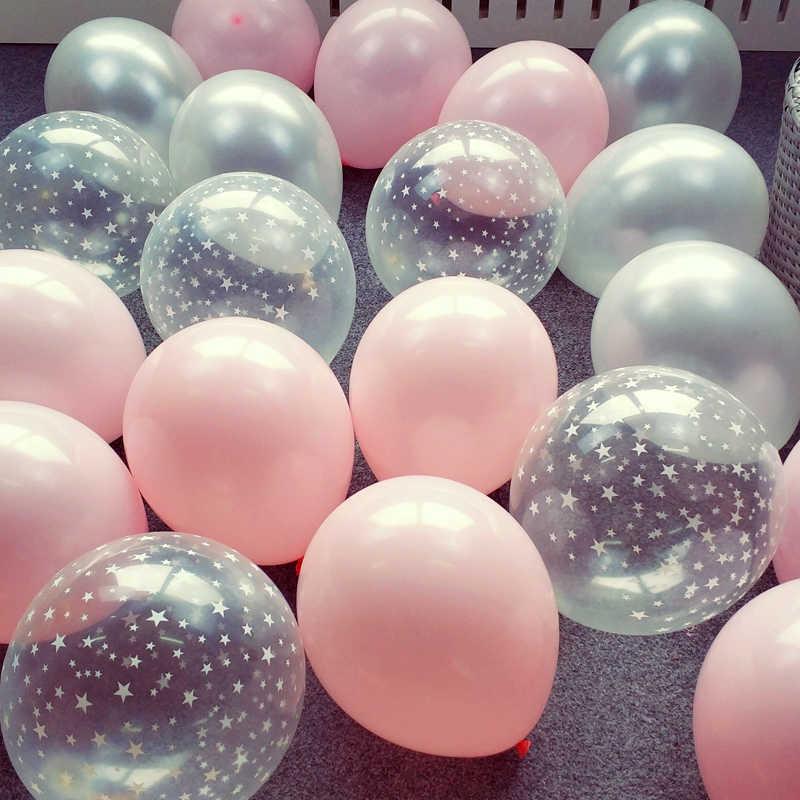 Ballon Latex Transparent étoile pour Happy Ink-bleu | 2.2g, rose blanc, à hélium, pour décoration de réception de mariage