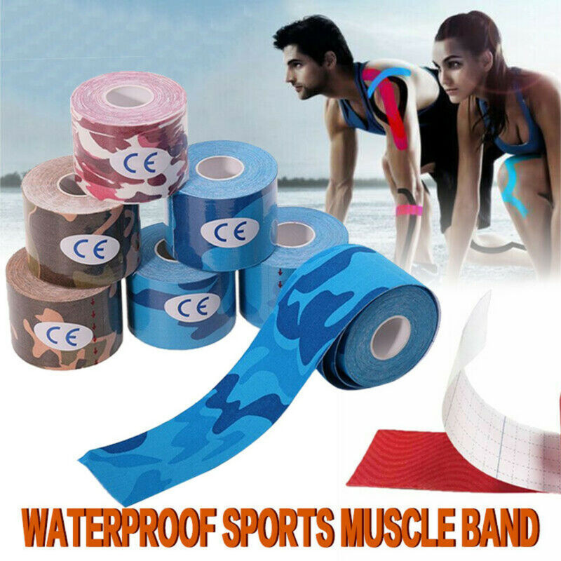 Waterproof Therapeutic Elastic Tape Kinesiology Fitness Muscle Bandage 5m Pain